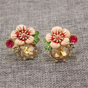 Anthro Floret Cluster Earrings